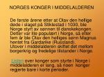 norges konger i middelalderen