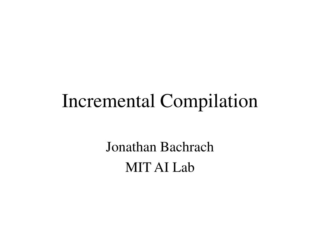 incremental compilation l.