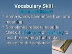 vocabulary skill dictionary glossary