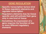 gene regulation21