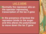 lac z gene16