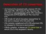 generation of c3 convertase
