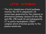 lytic pathway