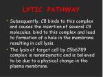 lytic pathway27
