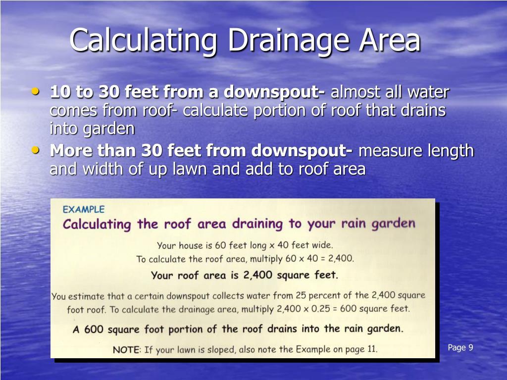 Calculating Drainage Area