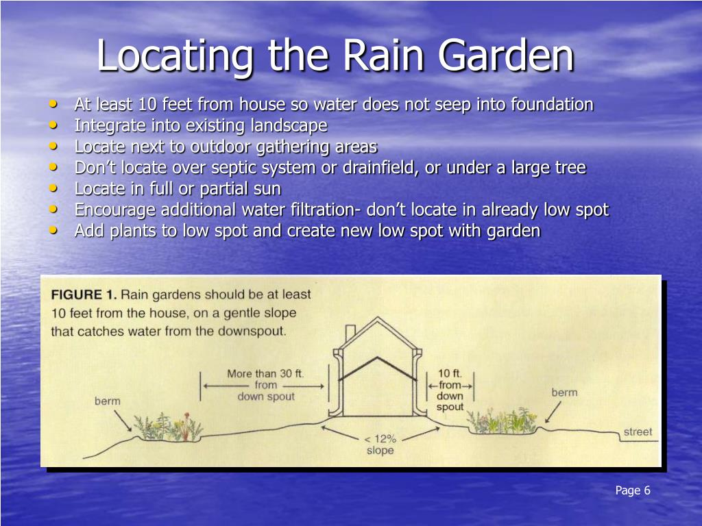 Locating the Rain Garden