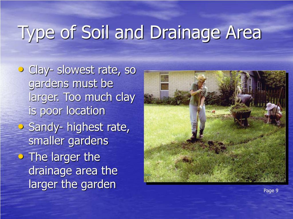 Type of Soil and Drainage Area