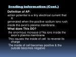 sending information cont