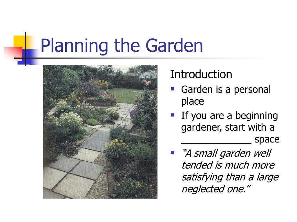 planning the garden l.