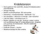 kn distorsion