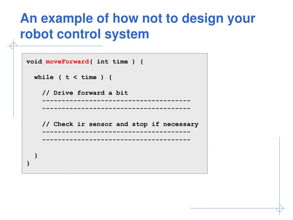An example of how not to design your robot control system