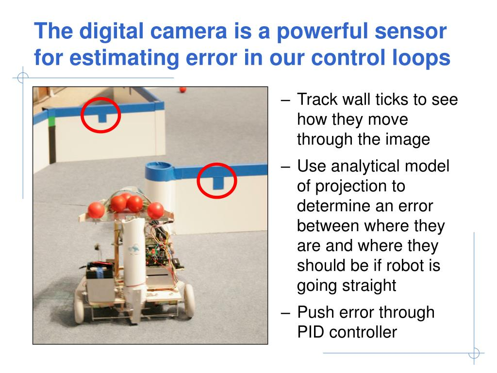 The digital camera is a powerful sensor for estimating error in our control loops