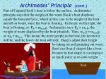 archimedes principle cont