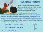 archimedes problem