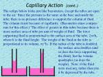 capillary action cont