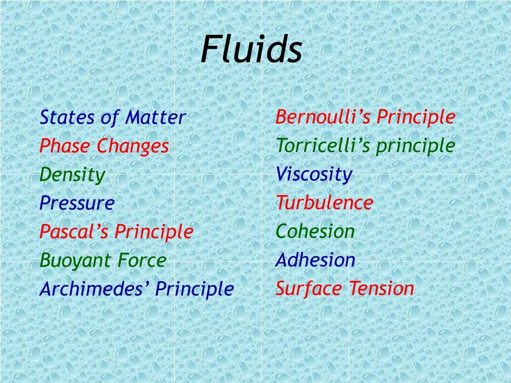 fluids l.