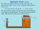 hydraulic press cont