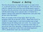 pressure boiling