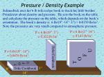 pressure density example