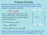 pressure formula