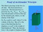 proof of archimedes principle