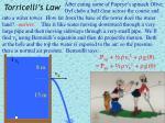 torricelli s law