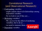 correlational research and observational research