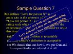 sample question 727