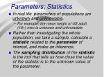 parameters statistics
