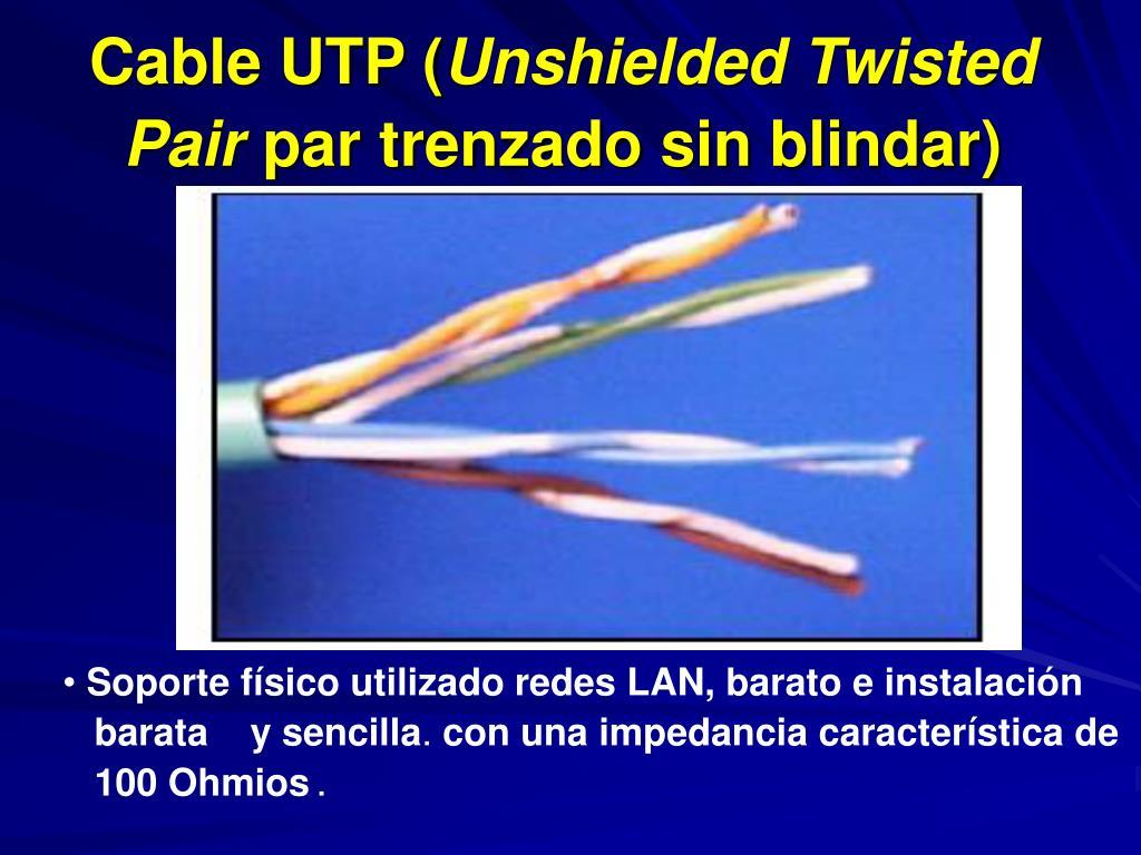 cable utp unshielded twisted pair par trenzado sin blindar l.