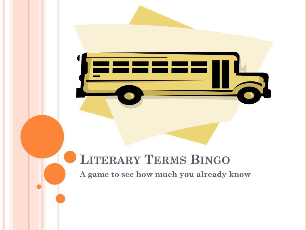literary terms bingo l.