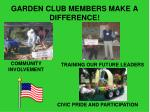 garden club members make a difference
