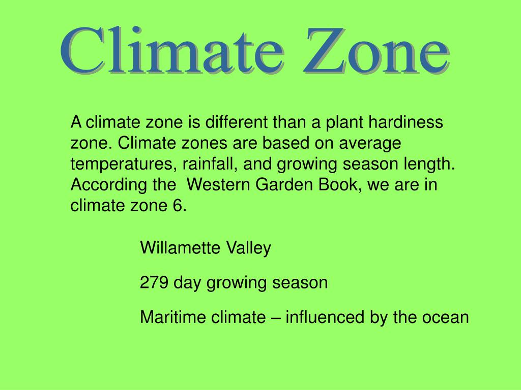 Climate Zone
