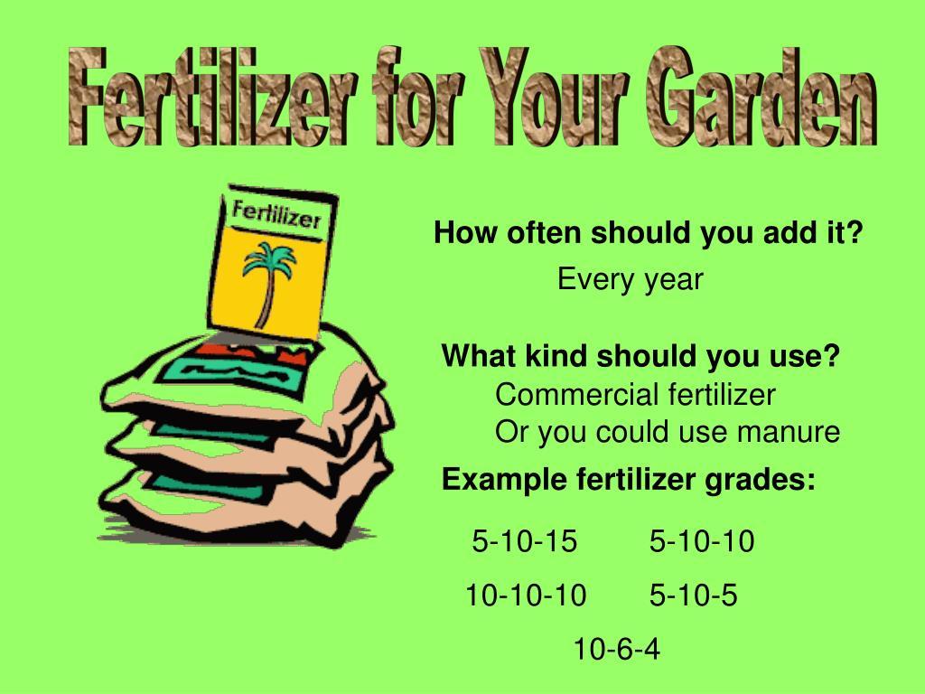 Fertilizer for Your Garden