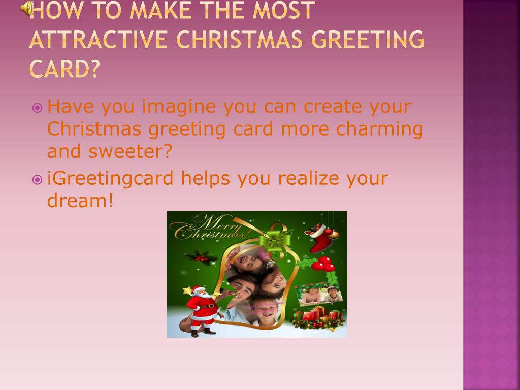 how to make the most attractive christmas greeting card l.
