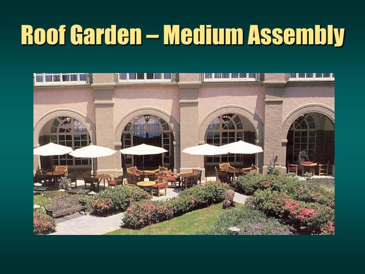 Roof Garden – Medium Assembly