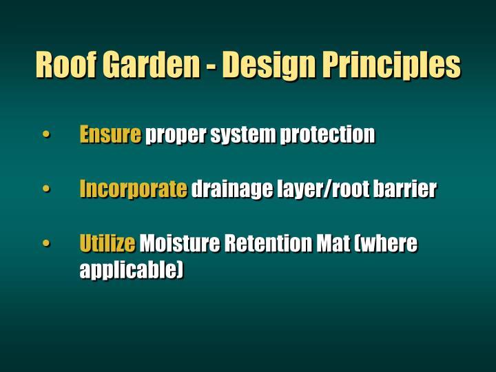 Roof Garden - Design Principles