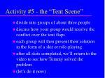 activity 5 the tent scene