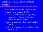 assistant senior patrol leader duties