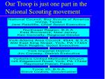 our troop is just one part in the national scouting movement