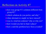 reflection on activity 7