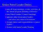 senior patrol leader duties