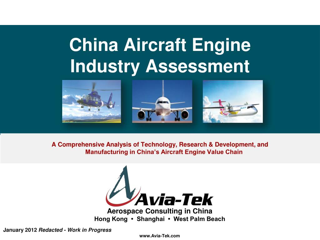 china aircraft engine industry assessment l.