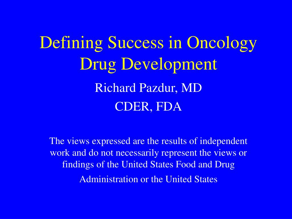 defining success in oncology drug development l.