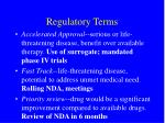 regulatory terms