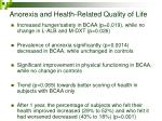 anorexia and health related quality of life