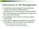 conclusions in he management