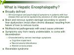 what is hepatic encephalopathy