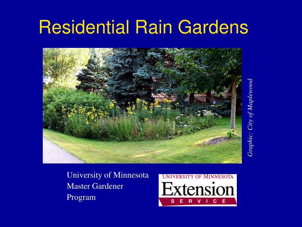 residential rain gardens l.