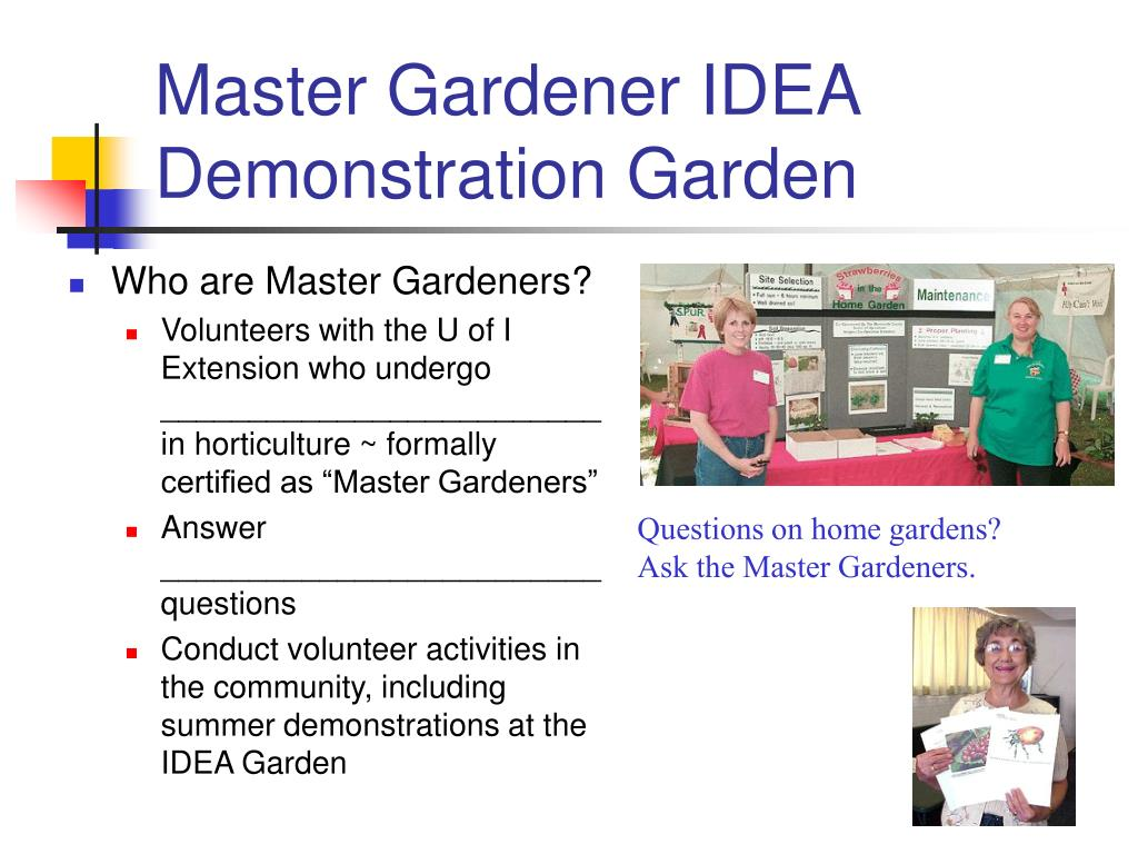 Master Gardener IDEA Demonstration Garden